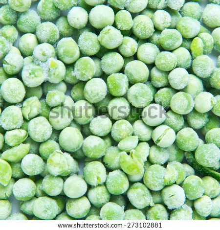 frozen peas - stock photo
