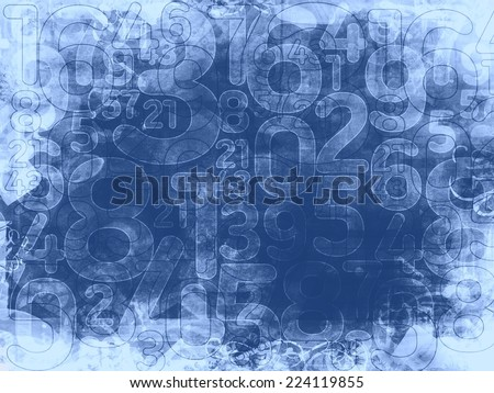 frozen random numbers background or texture illustration - stock photo