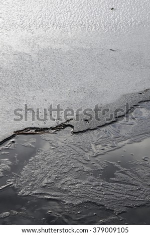 Frozen River Abstract
