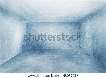 frozen room, christmas background - stock photo