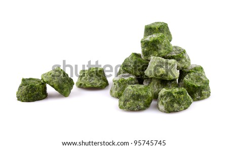 Frozen spinach - stock photo
