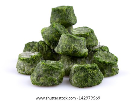 Frozen spinach close-up - stock photo