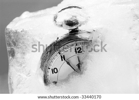 Frozen Time - stock photo
