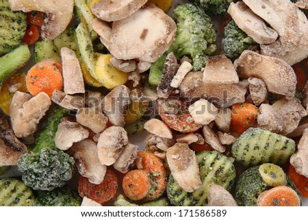frozen vegetable background - stock photo