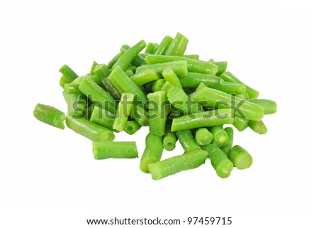 Frozen vegetable for cooking green beans - stock photo