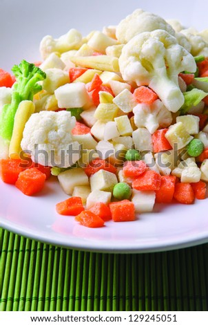 Frozen vegetable mix for a healthy diet. - stock photo