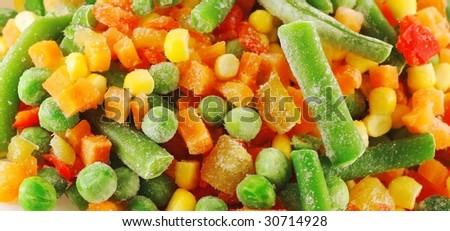 Frozen vegetables - stock photo