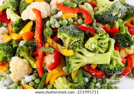 Frozen vegetables background - stock photo