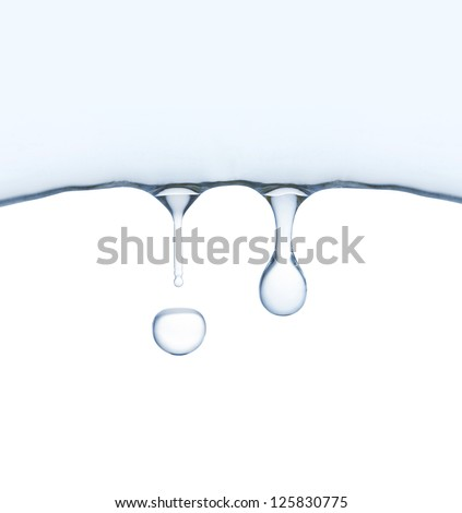 Frozen water melts and drips. Symbol of the springtime. - stock photo