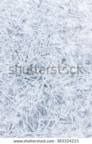Frozen water texture shot from above - stock photo