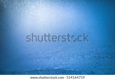 frozen window glass background texture