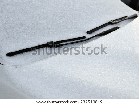 Frozen windshield