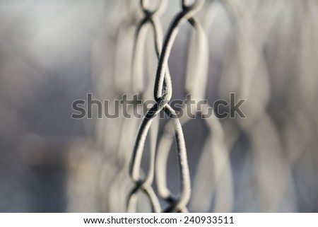 frozen wire. Winter background  - stock photo