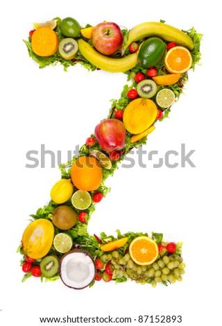 "Fruit alphabet letter ""Z"""