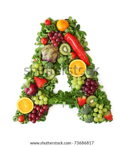 Fruit Ve able Alphabet Letter Stock Safe to Use