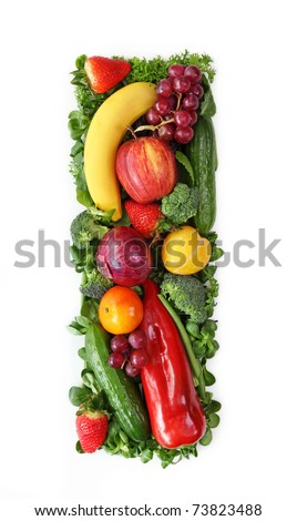 Vegetable Letters Stock Images Royalty Free Images