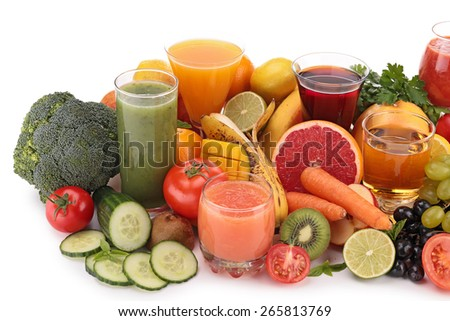 fruit and vegetable drink - stock photo