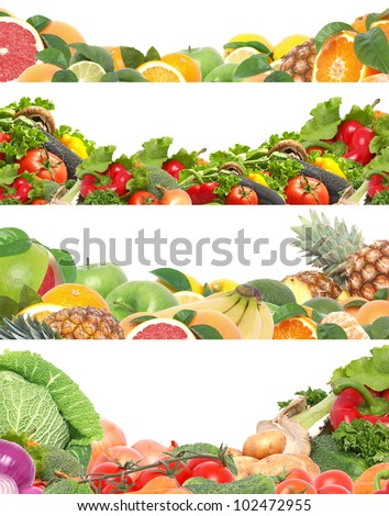 Fruits And Vegetables Border