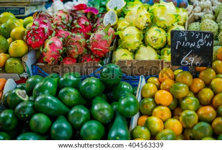 Fruit and vegetables farmers market