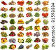 Fruit and vegetables for all tastes - stock photo