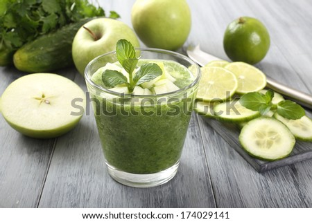 fruit and vegetables smoothie