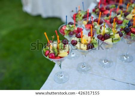 fruit bowls - stock photo