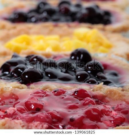 Fruit cake desert - stock photo