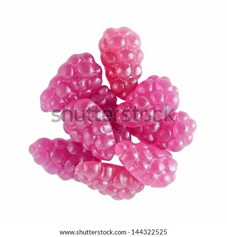 Fruit candies - gummy, isolated - stock photo