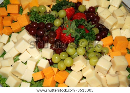 Fruit & Cheese Plate - stock photo