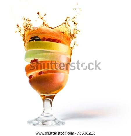 fruit cocktail, fruit juice vitamin