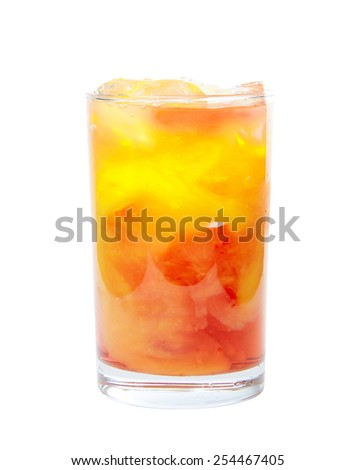 Fruit coctail - stock photo