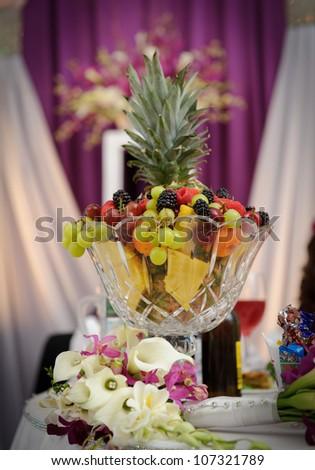 Fruit Decoration At The Wedding Reception