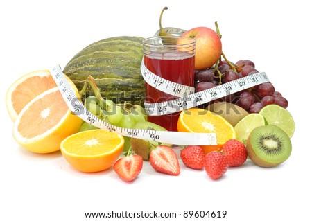 Fruit detox - stock photo