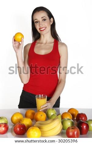 fruit diet - stock photo