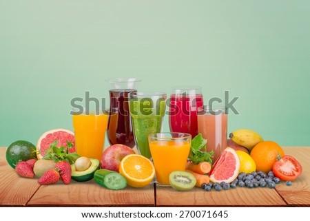 Fruit, drink, grape. - stock photo