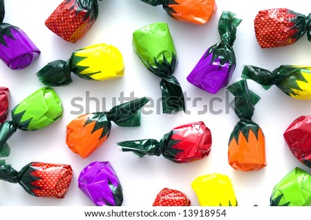 Fruit flavored hard candy - stock photo