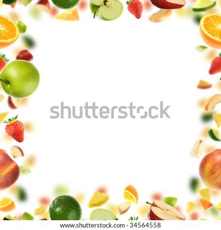 Fruit frame - stock photo