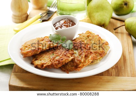 fruit fritters - stock photo
