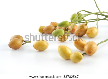 Fruit in white background