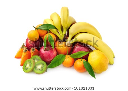 fruit isolated on a white background