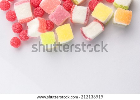 fruit jelly candies - stock photo