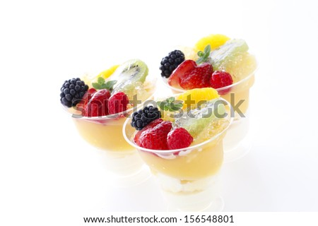Fruit jelly made with fresh fruit