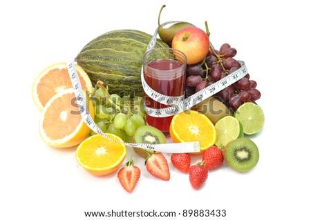 Fruit juice detox - stock photo