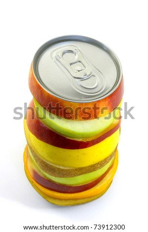 Fruit juice isolated in white