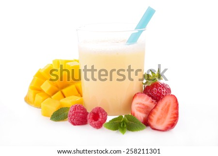 fruit juice, smoothie - stock photo