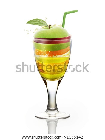 fruit juice vitamin - stock photo