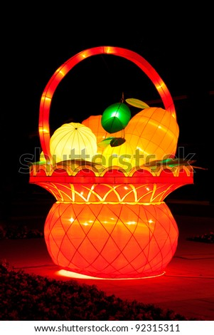 fruit Lantern Chinese New Year Festival - stock photo