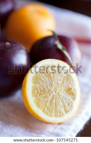 Fruit- Lemons and Plums