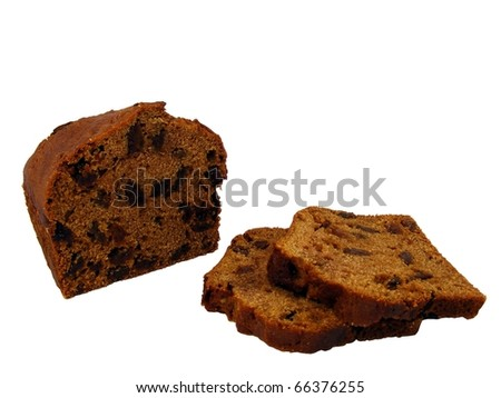 Fruit Loaf Sliced - stock photo