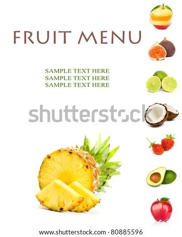 FRUIT MENU - stock photo
